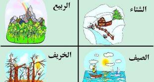 معلومات عن الفصول الاربعة للاطفال , شرح الفصول الاربعة للصغار