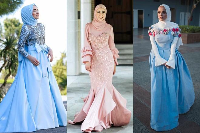 صور فساتين خطوبه للمحجبات , فساتين خطوبة مناسبة للحجاب