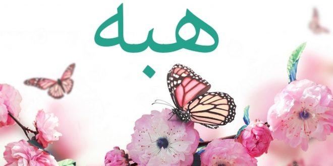 صورة معنا اسم هبه , ماذا يعني اسم هبة في المعجم