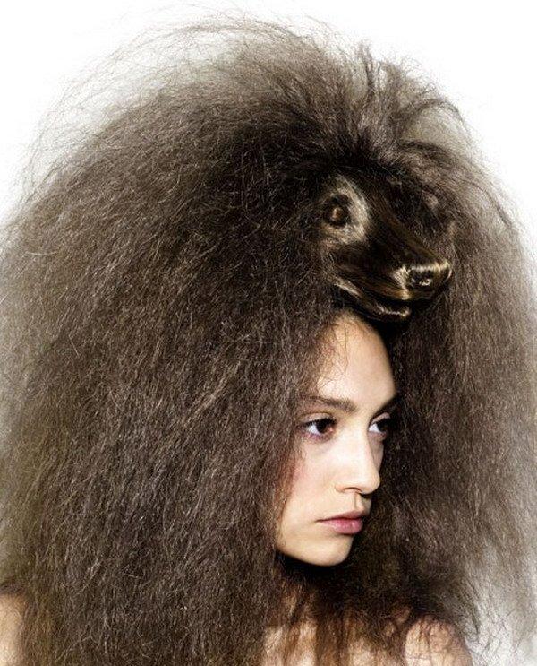 صورة قصات شعر غريبه للبنات , جددي قصة شعرك على الموضة 1471 9