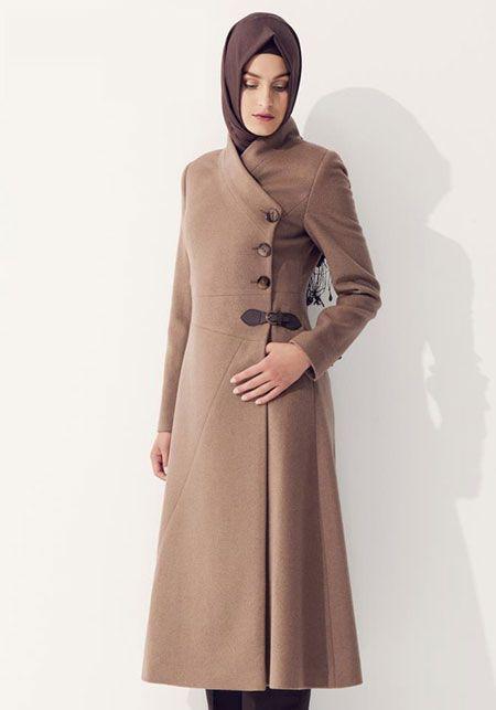 صورة احدث الملابس الشتوية للمحجبات , اطلالة قوية من ملابس الشتاء للمحجبة
