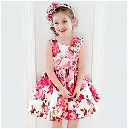 صورة فساتين للعيد بنات , ملابس بنات رقيقة باطلالات رائعة وجميلة 298 3