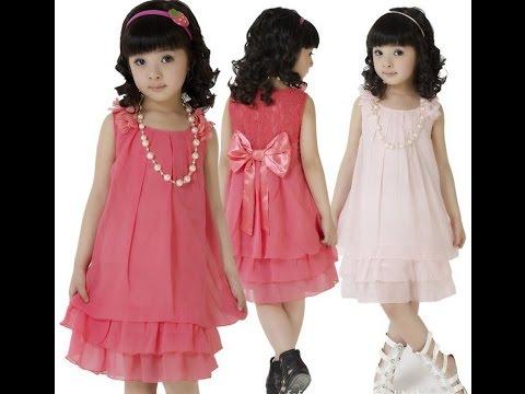 صورة فساتين للعيد بنات , ملابس بنات رقيقة باطلالات رائعة وجميلة 298 4