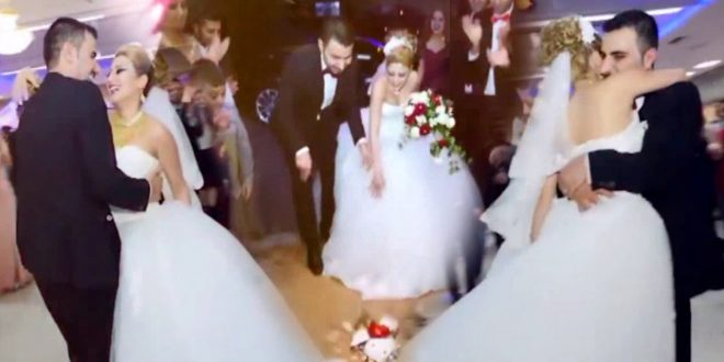 صور احلى زفات عروس , الدبكة اللبنانى والتنورة الشعبى