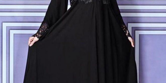 صورة عبايات على شكل فستان , اجمل كولكش عبايات روعة