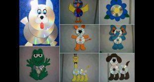 صورة اعمال فنية بالسي دي للاطفال , العاب للاطفال واشكال روعه بالسي دي