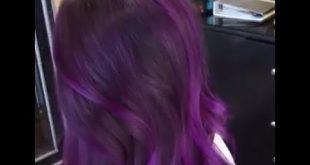 صورة كيف اصبغ شعري بنفسجي بدون سحب لون , غيري شكل شعرك باقل خساير