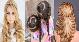 صورة احلى تسريحة شعر , اسهل طريقة لتسريحات الشعر الطويل والقصير