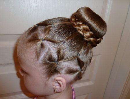صورة اجمل التسريحات للاطفال , اعملى لبنتك شكل جديد في شعرها 1956 1