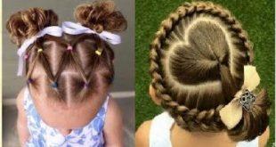 صورة اجمل التسريحات للاطفال , اعملى لبنتك شكل جديد في شعرها