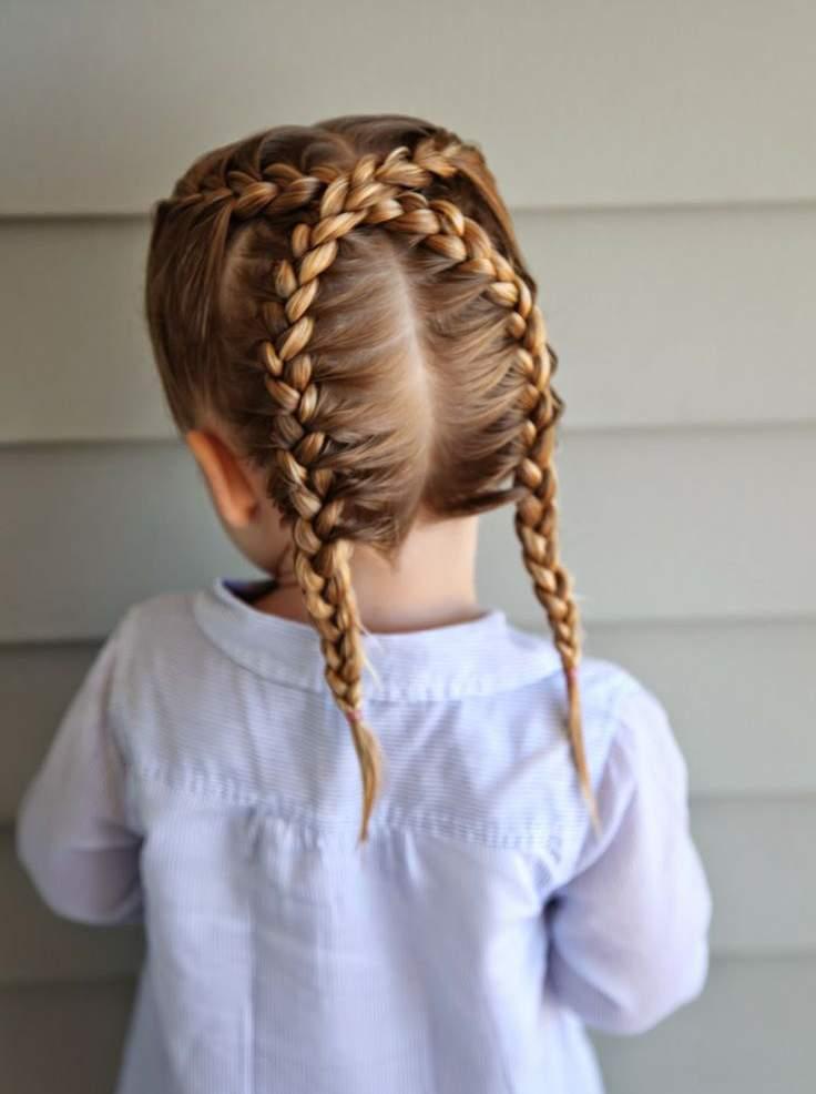 صورة اجمل التسريحات للاطفال , اعملى لبنتك شكل جديد في شعرها 1956 7