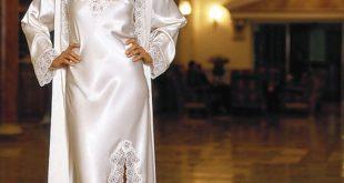صورة قمصان نوم عرايسي طويل , موديلات جديده لكل عروسة وبنت بتحب التغير