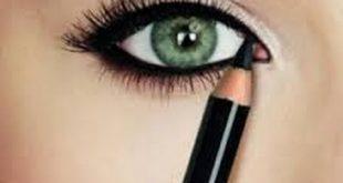 صورة طريقة رسم العين بالكحل القلم , اتعلمي اساسيات المكياج وارسمي عينك بسهوله