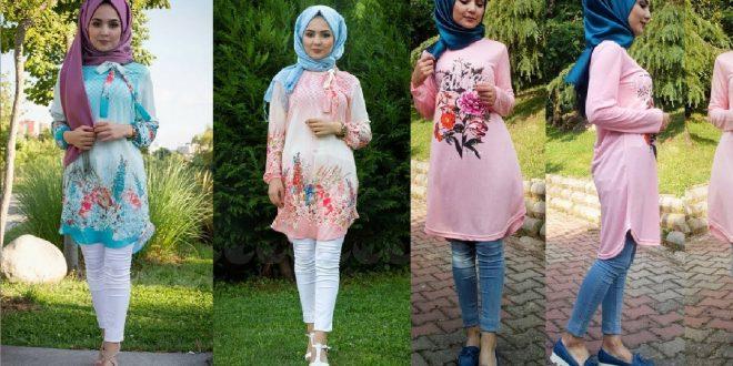 صورة اجمل ملابس المحجبات , الحجاب زينة كل بنت فتالقي باروع فساتين