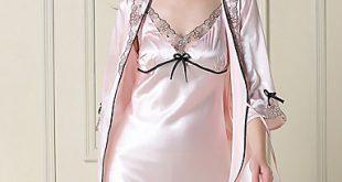 صورة قمصان نوم ستان مثيرة , اتدلعى في بيتك باجمل تشكيلة ملابس بيت